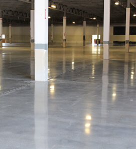 Newely renovated area with polished concrete floors