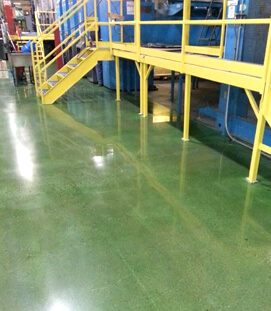 Business Front Desk Polished Concrete Floor Contractors