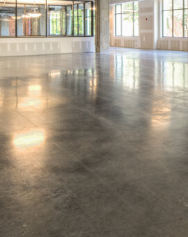 corporate business floors with concrete polished floors
